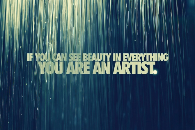 art quote-if you can see beauty