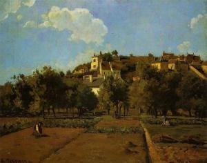Camille Pissarro-the-gardens-of-l-hermitage-pontoise-1867