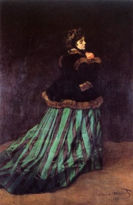 Claude Monet-1866-The woman in a green dress
