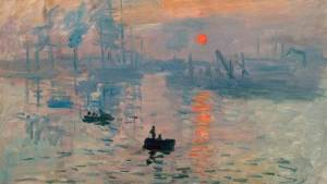 Claude Monet-1872-Rising sun impression