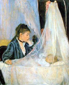 Berthe Morisot-The Cradle-1872