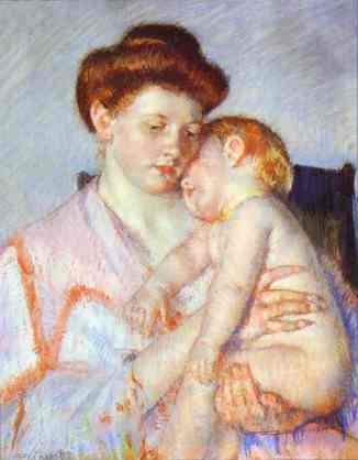 Mary Cassat - Sleeping baby 1910