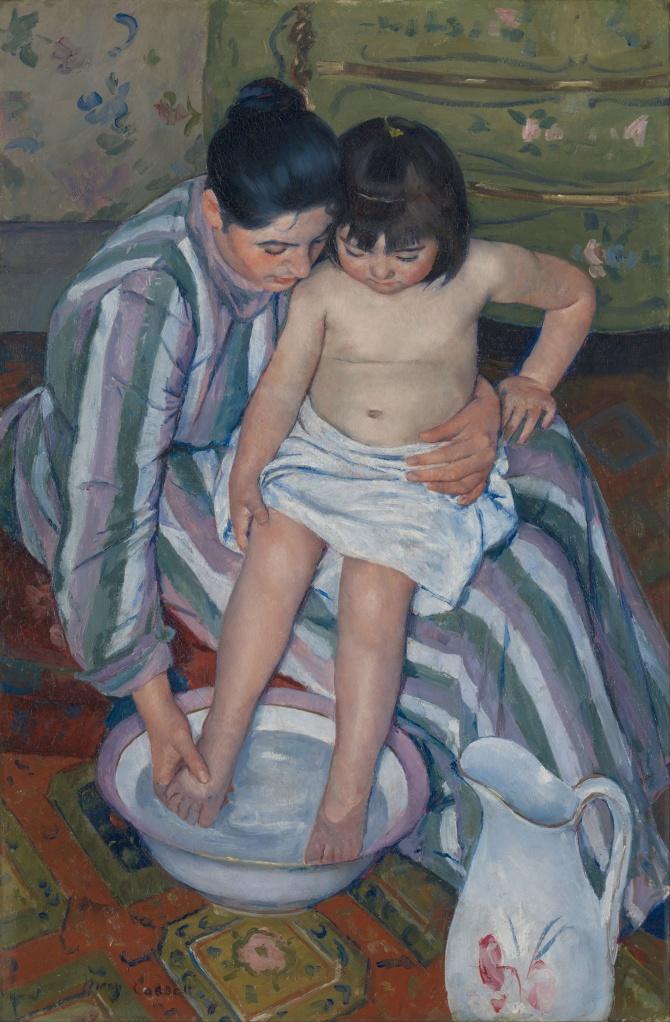 Mary Cassat - The child's bath - 1893